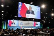 Uno-Generalsekretär Antonio spricht zum Auftakt der Weltklimakonferenz. (Bild: Keystone/Peter Klaunzer (Kattowitz, 3. Dezember 2018))