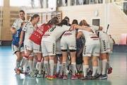 Die Damen von Zug United halten zusammen. (Bild: Archivbild: Roger Zbinden (Rotkreuz 6. Oktober 2018))