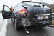 Eines der zehn Autos, die in die Auffahrunfälle verwickelt waren.