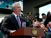 Die komumbianische Regierung hat angebliche Attentatspläne gegen Präsident Ivan Duque verurteilt. (Bild: KEYSTONE/EPA EFE/MAURICIO DUEÑAS CASTAÑEDA)