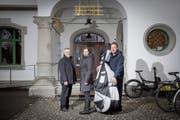 Für einmal in der Militärkantine (v.l.): Jürg Hochuli, Nicole Borra, Patrick Kessler. (Bild: Urs Bucher)