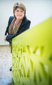 Heidi Grau im neuen Gemeindehaus. (Bild: Andrea Stalder)