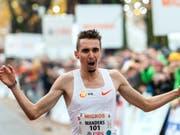 Julien Wanders drückte seinen Europarekord im 10-km-Strassenlauf erneut (Bild: KEYSTONE/MARTIAL TREZZINI)