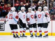Die Schweizer Junioren liessen gegen Dänemark nichts anbrennen (Bild: KEYSTONE/AP The Canadian Press/DARRYL DYCK)