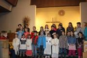 Insgesamt waren 27 Schüler der Schule Sisikon am Krippenspiel beteiligt. (Bild: PD)