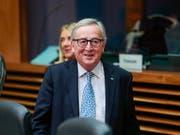 EU-Kommissionschef Jean-Claude Juncker hat den EU-Staaten eine «himmelschreiende Heuchelei» in der Diskussion um eine grössere europäische Grenzschutztruppe vorgeworfen. (Bild: KEYSTONE/EPA/STEPHANIE LECOCQ)
