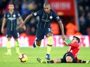 Fernandinho und Manchester City überspringen die Hürde Southampton (Bild: KEYSTONE/AP PA/ADAM DAVY)