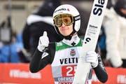 Simon Ammann während des ersten Durchgangs an der Vierschanzentournee in Oberstdorf (Bild: Keystone, 30. Dezember 2018)