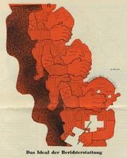 Diese Karikatur schuf Heinrich Danioth 1934 für den «Nebelspalter». (Bild: PD)