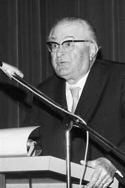 Walther Bringolf prägte die Arbeiterzeitung über mehrere Jahre. (Bild: Keystone)