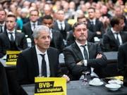 Trainer Lucien Favre und Sportdirektor Michael Zorc bilden bei Borussia Dortmund ein erfolgreiches Duo (Bild: KEYSTONE/dpa/BERND THISSEN)