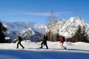 Schneeschuhwanderer profitieren vom neuen Angebot. (Bild: Christian Perret)