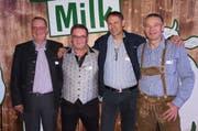 Markus Forster, Godi Siegfried, Markus und Christof Züger (von links) führen die «Swiss Milk Family». (Bild: Martin Brunner)