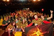 Feierliche Stimmung bei den Gewinnern. Bild: Angelika Annen/Caritas Schweiz