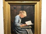 Albert Ankers Porträt «Fleissig/Appliquée» ist auf einer Auktion Schweizer Meisterwerke für 1.2 Millionen Franken versteigert worden. (Bild: Albert Hanker / Sotheby's)