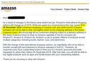 Das Mail mit der Einstellungsinformation an alle Amazon.com-Kunden mit Schweizer Adresse. (Bild: Screenshot Carpathia)