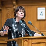 Doris Leuthard musste gestern im Nationalrat eine Niederlage einstecken. (Bild: Alessandro Della Valle/Keystone (Bern, 4. Dezember 2018))