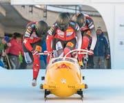 Jetzt die Nr. 1: Der Schwyzer Pilot Michael Vogt (vorne). (Bild: Giancarlo Cattaneo/Freshfocus (31. Dezember 2017))