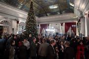 Die Lobby des Hotels Bellevue Palace in der «Nacht der langen Messer».(KEYSTONE/Anthony Anex)