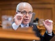 Finanzminister Ueli Maurer schwor den Ständerat auf den Kompromiss zum Finanzausgleich ein. (Bild: KEYSTONE/ALESSANDRO DELLA VALLE)