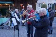 Die Musikgesellschaft Oberschan sorgte für die musikalische Unterhaltung.