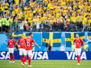 Die WM-Endrunde in Russland endete für die Schweiz mit dem enttäuschenden Ausscheiden im Achtelfinal gegen Schweden. Nun freuen sich die Schweizer Klubs über 1,6 Millionen Dollar WM-Prämien (Bild: KEYSTONE/LAURENT GILLIERON)