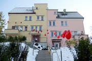 Das «Ronald McDonald Haus» an der Trüllhofstrasse in Luzern bei seiner Eröffnung. (Bild: Philipp Schmidli, 4. Dezember 2013)