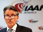 Sebastian Coe präsidiert den Leichtathletik-Weltverband IAAF, der an der Sperre gegen Russland festhält (Bild: KEYSTONE/EPA/SEBASTIEN NOGIER)