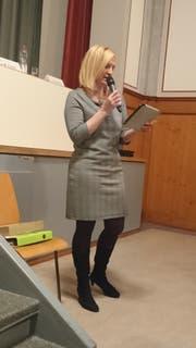 Miriam Löffel bringt ihre Argumente vor. (Bild: Nicole D'Orazio)