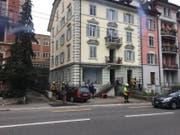 Die Einsatzkräft vor Ort (Bild: Kilian Küttel (Luzern, 5. Dezember 2018))