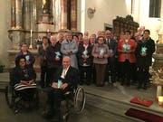Die Jubilare des Kirchenmusikverbandes Uri wurden in der Pfarrkirche Silenen für ihr langjähriges musikalisches Wirken geehrt. (Bild: PD)