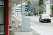 Der Raser wurde insgesamt dreimal von einem Radar auf Höhe Kantonsspital geblitzt. (Bild: Reto Martin)