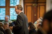 Stand im Mittelpunkt der Grossratsdebatte über den Fall Hefenhofen: Regierungsrat Walter Schönholzer. (Bild: Reto Martin)