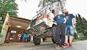 Für OhO unterwegs: Stefan und Benjamin Keller sammelten Geld für die Aktion «Ostschweizer helfen Ostschweizern».