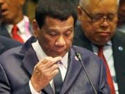 Der Präsident der Philippinen Rodrigo Duterte hat sich kritisch über die katholische Kirche geäussert. (Bild: KEYSTONE/AP/BULLIT MARQUEZ)