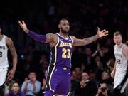LeBron James führt die Los Angeles Lakers zurück in die Erfolgsspur (Bild: KEYSTONE/AP/MARK J. TERRILL)