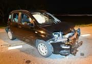 Eines der drei beschädigten Fahrzeuge. (Bild: PD/Luzerner Polizei)