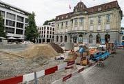 Der obere Postplatz soll ab dem 9. Dezember für Besucher wieder frei zugänglich sein. (Bild: Stefan Kaiser (Zug, 7. August 2018))