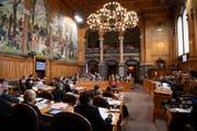 Parlamentarier debattieren während der Wintersession des Ständerates in Bern. (Bild: KEYSTONE/Anthony Anex (29. November 2018))
