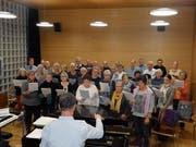 Seit April probt die Rheintalische Singgemeinschaft für ihr Jubiläumskonzert von nächstem Sonntag. (Bild: Dario Canal)