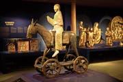 Der Steiner «Palmesel» aus dem 11. Jahrhundert ist wieder einmal in seiner Heimat zu sehen. (Bild: PD/Schweizerisches Nationalmuseum, Foto Lauperzemp)