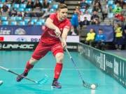 Tim Braillard rettet die Schweiz mit seinem Treffer vor der Blamage gegen Norwegen (Bild: KEYSTONE/HANDOUT SWISS UNIHOCKEY/FABIAN TREES)