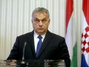 Ungarns Regierungschef Viktor Orban gestaltet die Medienlandschaft in Ungarn weiter unbeirrt um. (Bild: KEYSTONE/EPA/DANIEL KASAP)