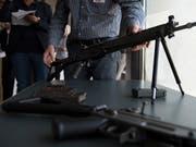 Die Diskussion über den Export von Schweizer Waffen ist noch nicht zu Ende. (Bild: KEYSTONE/ANTHONY ANEX)