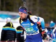 Bester Schweizer in Pokljuka: Mario Dolder lief auf den 26. Platz (Bild: KEYSTONE/EPA/ANTONIO BAT)