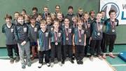 Die Armada der RCOG-Nachwuchsringer hat im Turnier in Mäder zugeschlagen und nahm 13 Medaillen mit nach Hause. (Bild: PD)