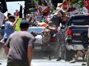 Mit dem Auto in eine Gruppe von Gegendemonstranten: Die US-Justiz befindet einen US-Neonazi des Mordes an einer Frau für schuldig. (Bild: KEYSTONE/AP The Daily Progress/RYAN M. KELLY)