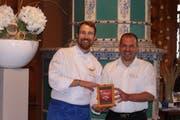 Sieger der «Mini Beiz, dini Beiz»-Woche: Küchenchef Marc Wöhrle und «Seeburg»-Wirt Matias Bolliger. (Bild: PD)