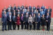 Die Teilnehmer an der Zentralschweizer Regierungskonferenz. (Bild: PD)