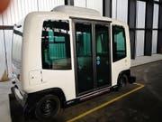 Anfang nächster Woche geht es raus aus der Garage: die Verkehrsbetriebe Bernmobil testen erstmals ein selbstfahrendes Shuttle. (Bild: Verkehrsbetriebe Bernmobil)